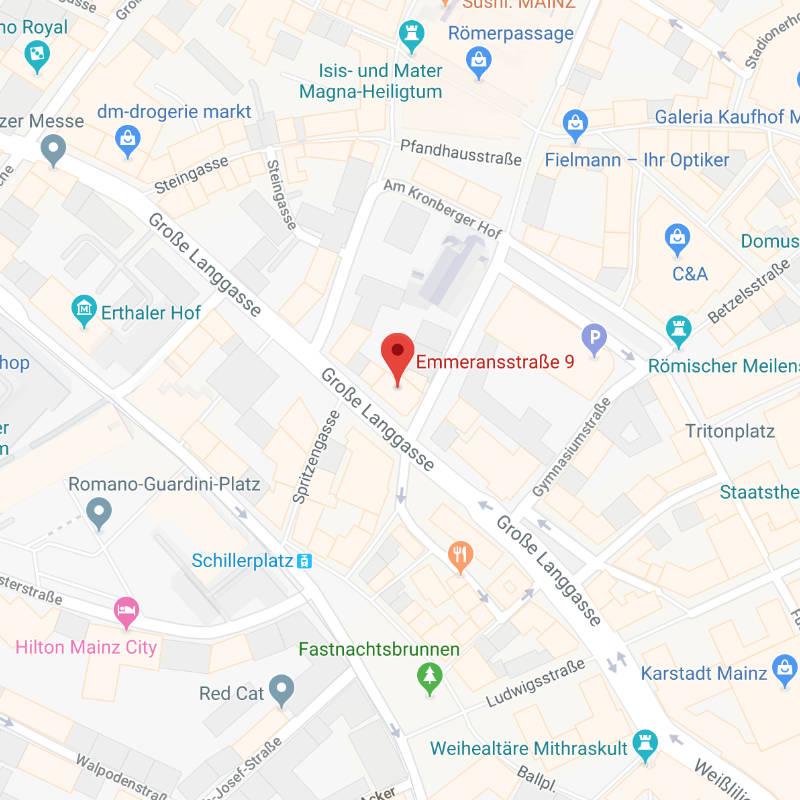 Karte von Googlemaps für die Anfahrt