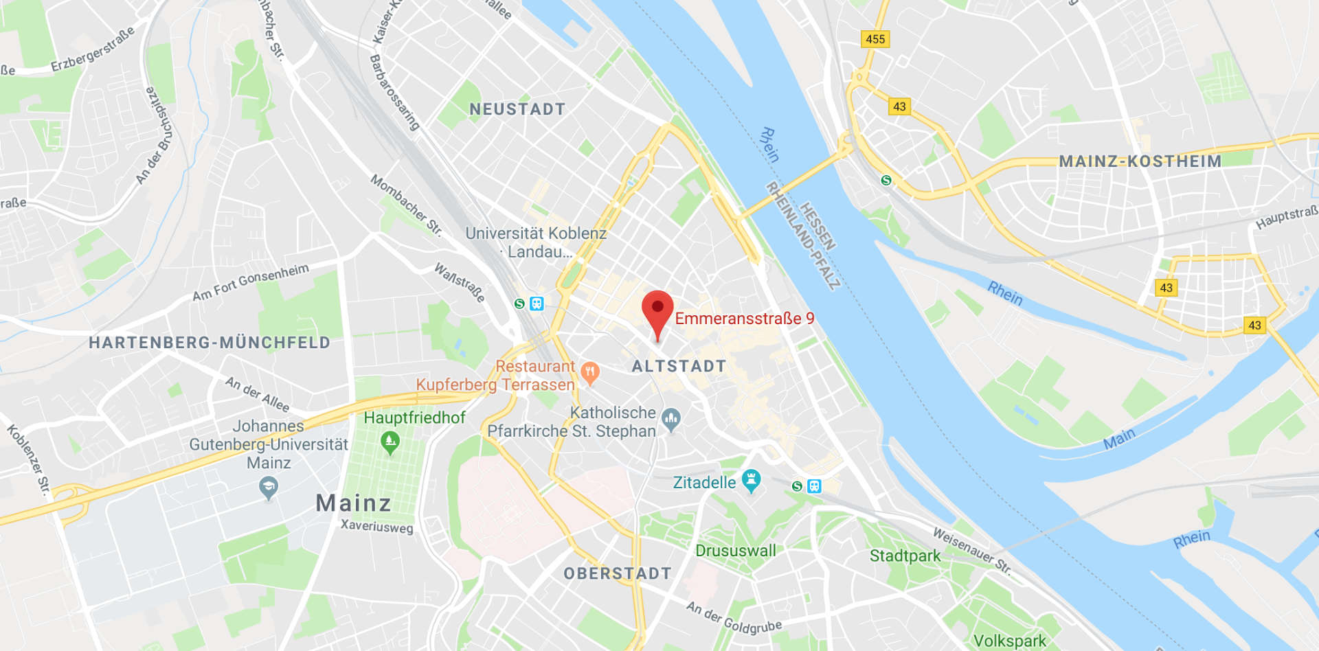 HNO Zentrum Mainz - Bild einer Googlemapskarte